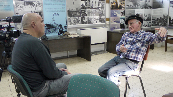 Giora Kariv interviews Yosef Almog about his role in bringing illegal immigrants into the country.